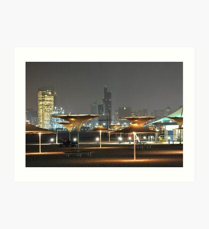 UAE at Night Art Print