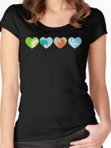 Four Seasons Hearts Women's Fitted Scoop T-Shirt