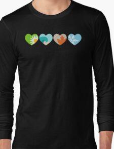 Four Seasons Hearts Long Sleeve T-Shirt