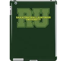 Raxacoricofallapatorius University iPad Case/Skin