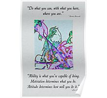 Inspirational Quotes From a Little Birdie Poster