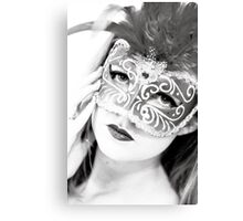 The girl in the mask PI Canvas Print