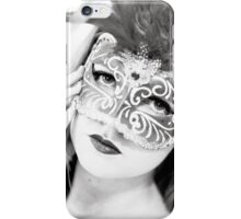 The girl in the mask PI iPhone Case/Skin