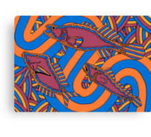 Aarli - (school of fish) barrgan season (winter)  Canvas Print