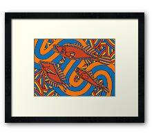 Aarli - (school of fish) lalin season (summer) Framed Print