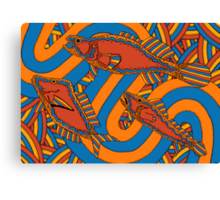 Aarli - (school of fish) lalin season (summer) Canvas Print
