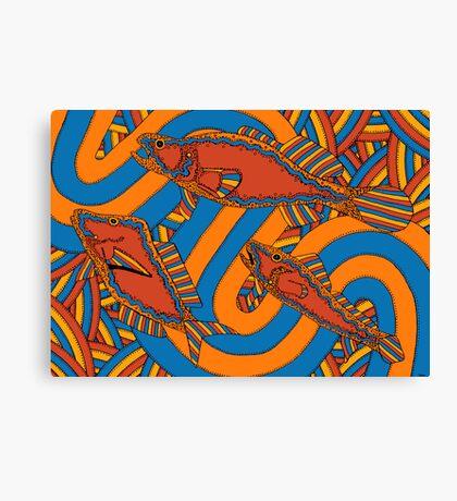 Aarli - (school of fish) lalin season (summer) Canvas Print