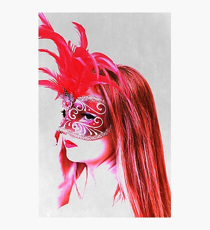 The girl in the mask PII Photographic Print