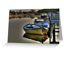 River  Reflections Marlo Vic. Greeting Card