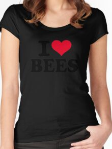 I love bees Women's Fitted Scoop T-Shirt