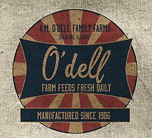 Odell Vintage Farm Feed Sack by marceejean