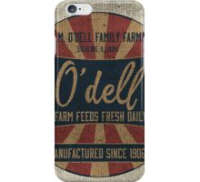 Odell Vintage Farm Feed Sack iPhone Case/Skin