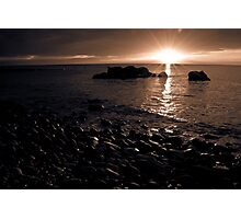 Sunset at Hallett Cove Photographic Print