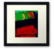 Caligraphic Framed Print
