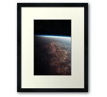 Earth From Space - Fantastic HD image of Earth taken from Orbit - International Space Station #iss Framed Print