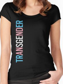 Transgender - Vertical Women's Fitted Scoop T-Shirt