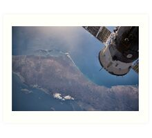 Earth From Space - Fantastic HD image of Earth taken from Orbit - International Space Station #iss Art Print