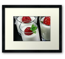 Fruity Dessert Framed Print