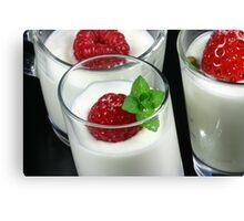 Fruity Dessert Canvas Print