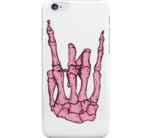 Skeleton hand | Pink iPhone Case/Skin
