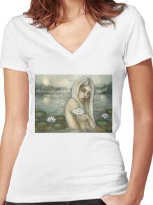 Rusalka Women's Fitted V-Neck T-Shirt