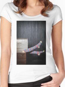 funny legs Women's Fitted Scoop T-Shirt
