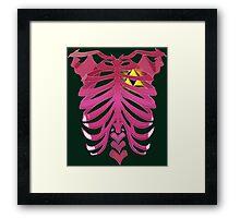 Zelda Triforce heart Framed Print