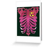 Zelda Triforce heart Greeting Card