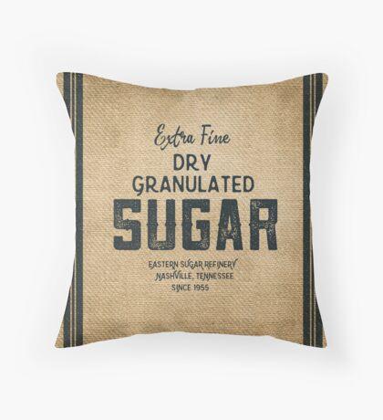 Vintage Style Sugar Sack Throw Pillow