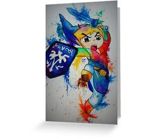 Link- The Legend of Zelda Greeting Card