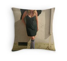 My Wings Have Turned to Black Throw Pillow