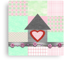 patchwork pink  Canvas Print