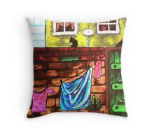 Lancashire backyard Throw Pillow