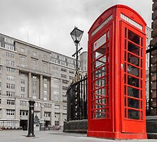 British Red Telephone Box by Beverley Goodwin