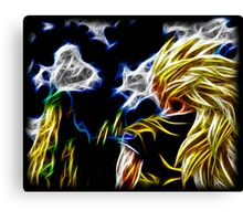 Abstract Super Saiyan 3 Canvas Print