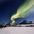 White plains under the Northern Lights by Frank Olsen