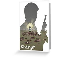 Pixel River of Death. Firefly Greeting Card