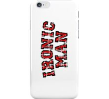 IRONIC MAN (Vintage/Red) iPhone Case/Skin