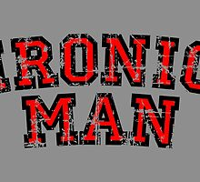 IRONIC MAN (Vintage/Red) by theshirtshops