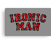 IRONIC MAN (Vintage/Red) Canvas Print