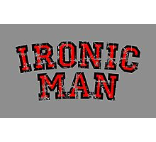 IRONIC MAN (Vintage/Red) Photographic Print