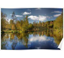 Queen Elizabeth Pond Reflections Poster