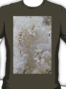 white wisteria in spring T-Shirt