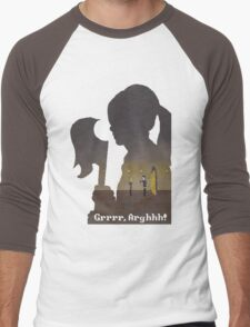Pixel Buffy kills Angel Men's Baseball ¾ T-Shirt