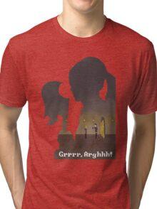 Pixel Buffy kills Angel Tri-blend T-Shirt