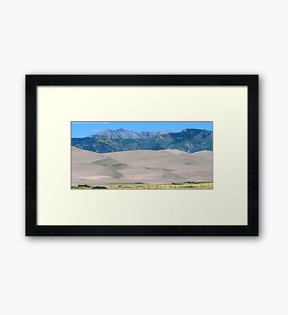 #573  Dunes & Mountains Of Colorado Framed Print