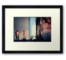 Four in a row Framed Print