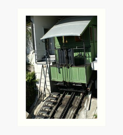 """cable car using """"used water"""" Art Print"""