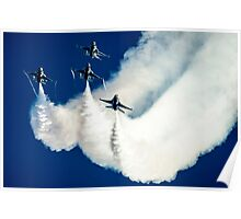 United States airforce display team the Thunderbirds Poster