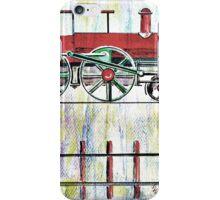 red locomotive iPhone Case/Skin